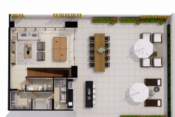 Penthouse C + Rooftop